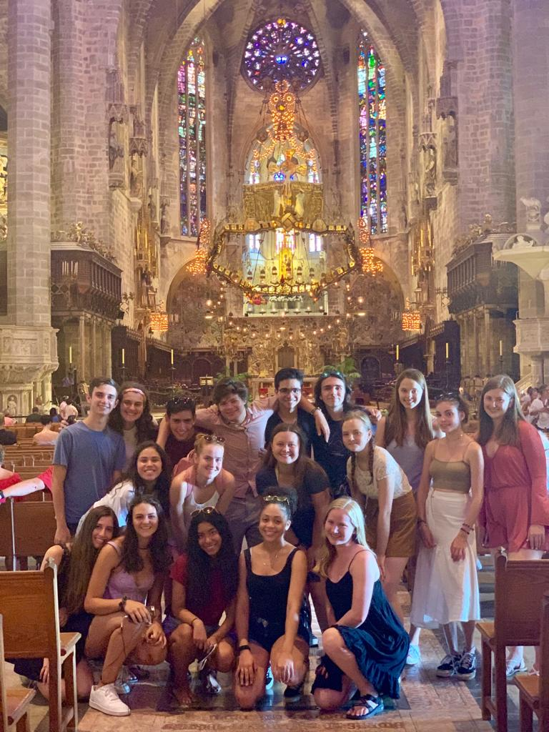 Students enjoying the Cathedral of Palma