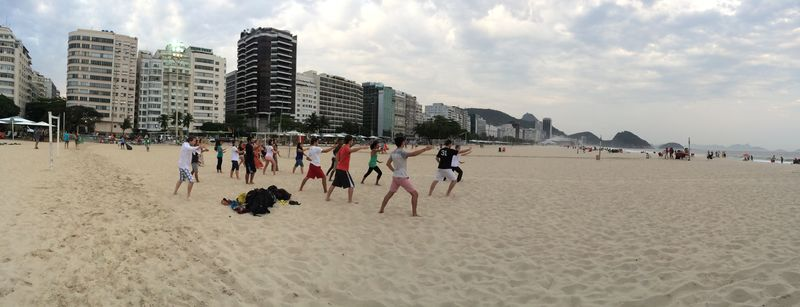 Tai chi on Copacabana Beach 3