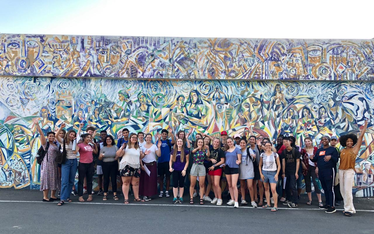 CIEE High School Study Abroad program participants from  Building Eco-Solutions to Empower Communities and Mentoring Youth and Raising Social and Raising Social Awareness at Forteza San Luis in Santiago