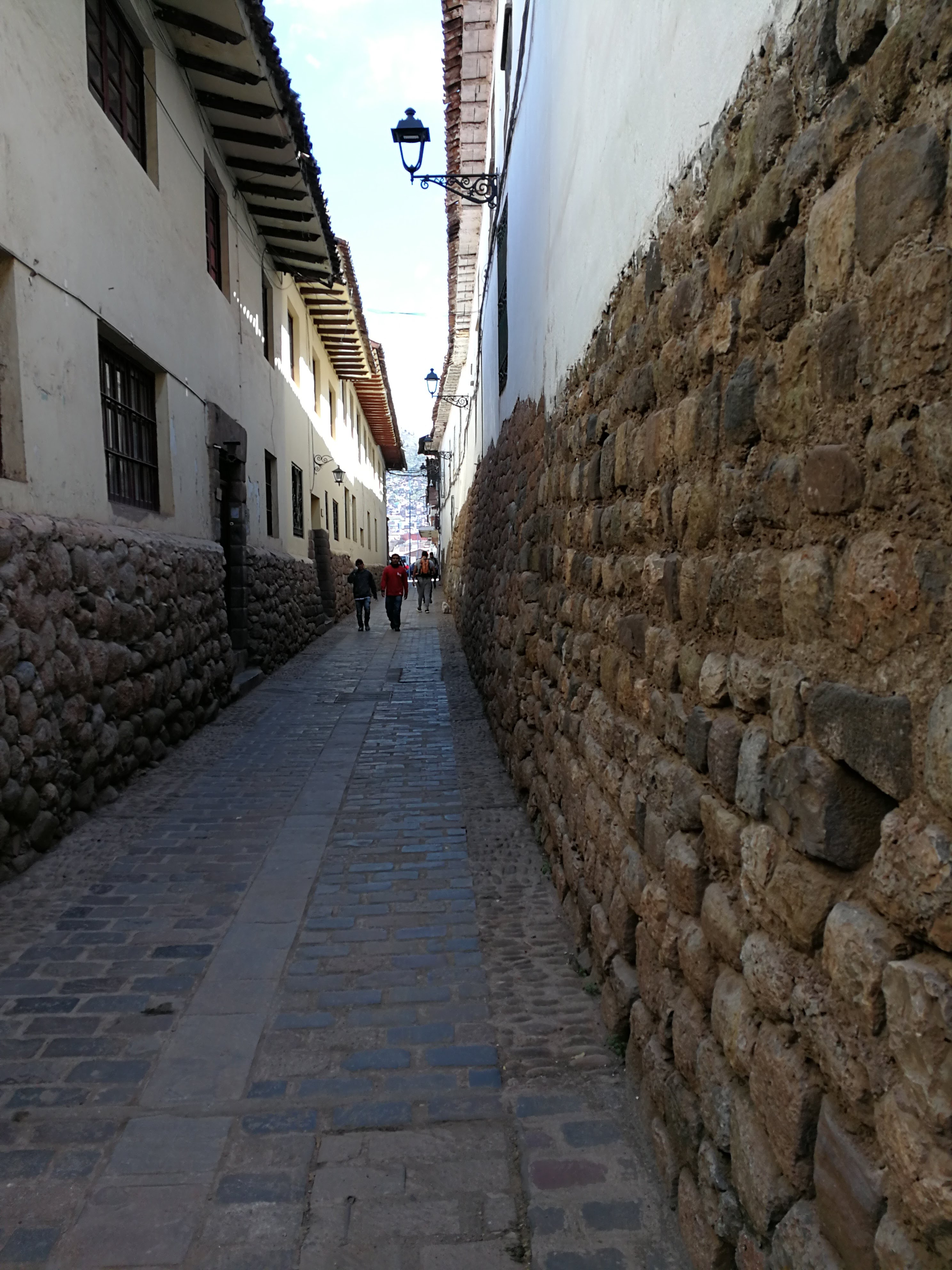 Andean street with Incan stones.