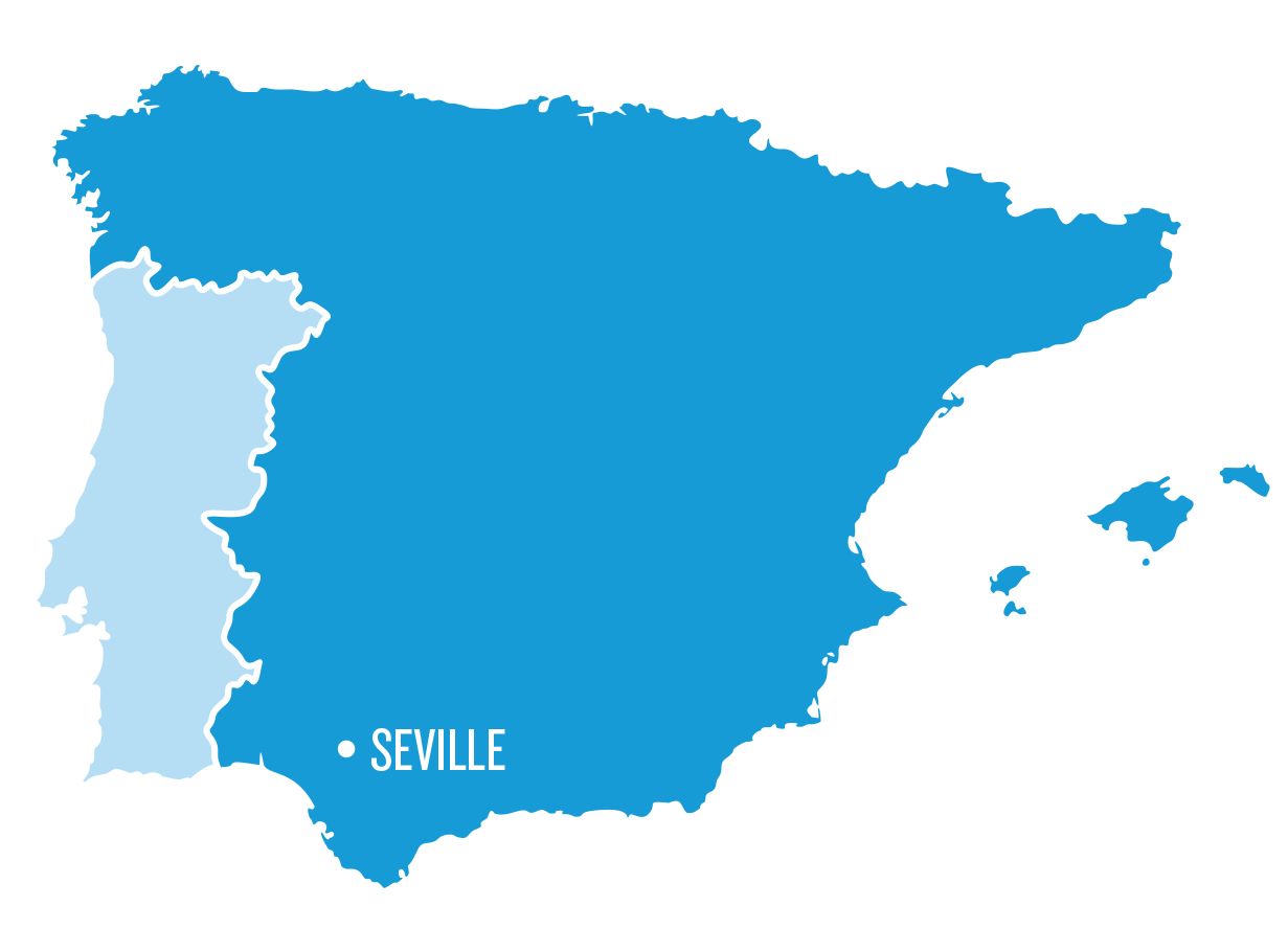 Map Of Spain Showing Seville.Study Abroad In Seville College Study Abroad Ciee