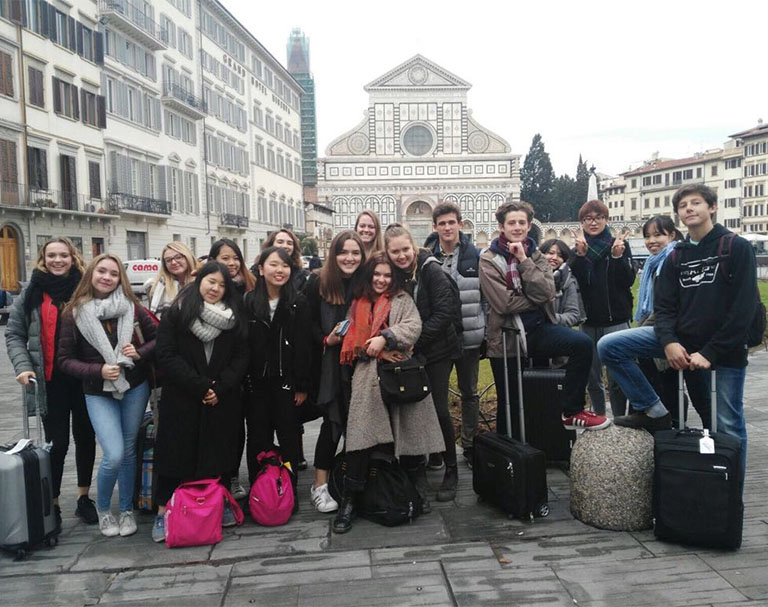 Our fantastic group for the Florence Trip